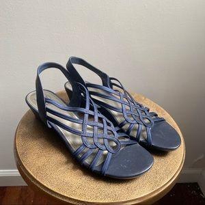 Impo Stretch navy blue Roswen strappy sandals
